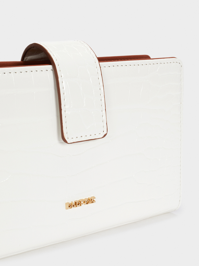Purse With Handle, White, hi-res