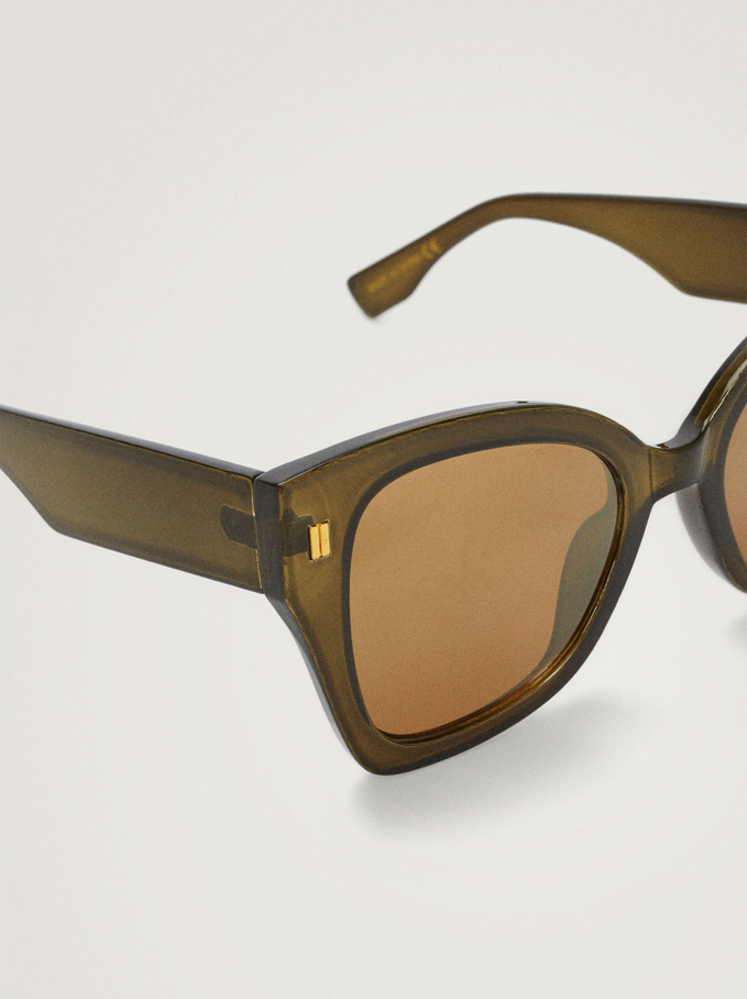 Sunglasses With Resin Frame, Green, hi-res