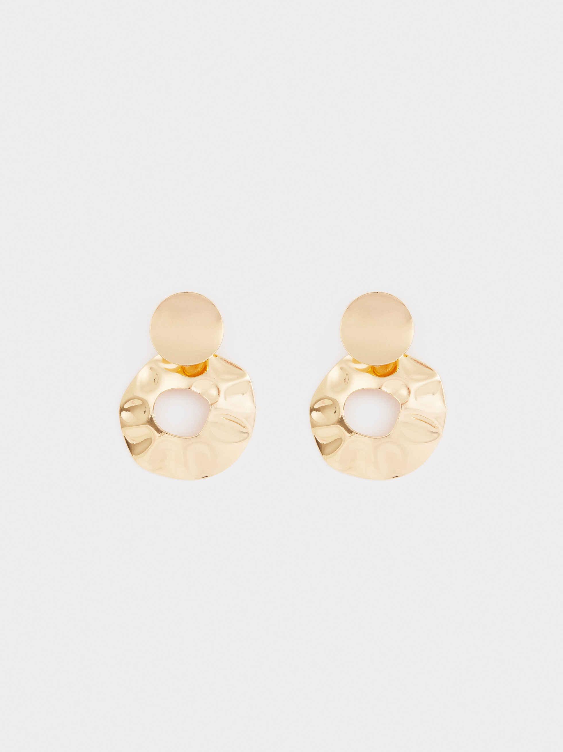 Medium Gold Circular Earrings, , hi-res