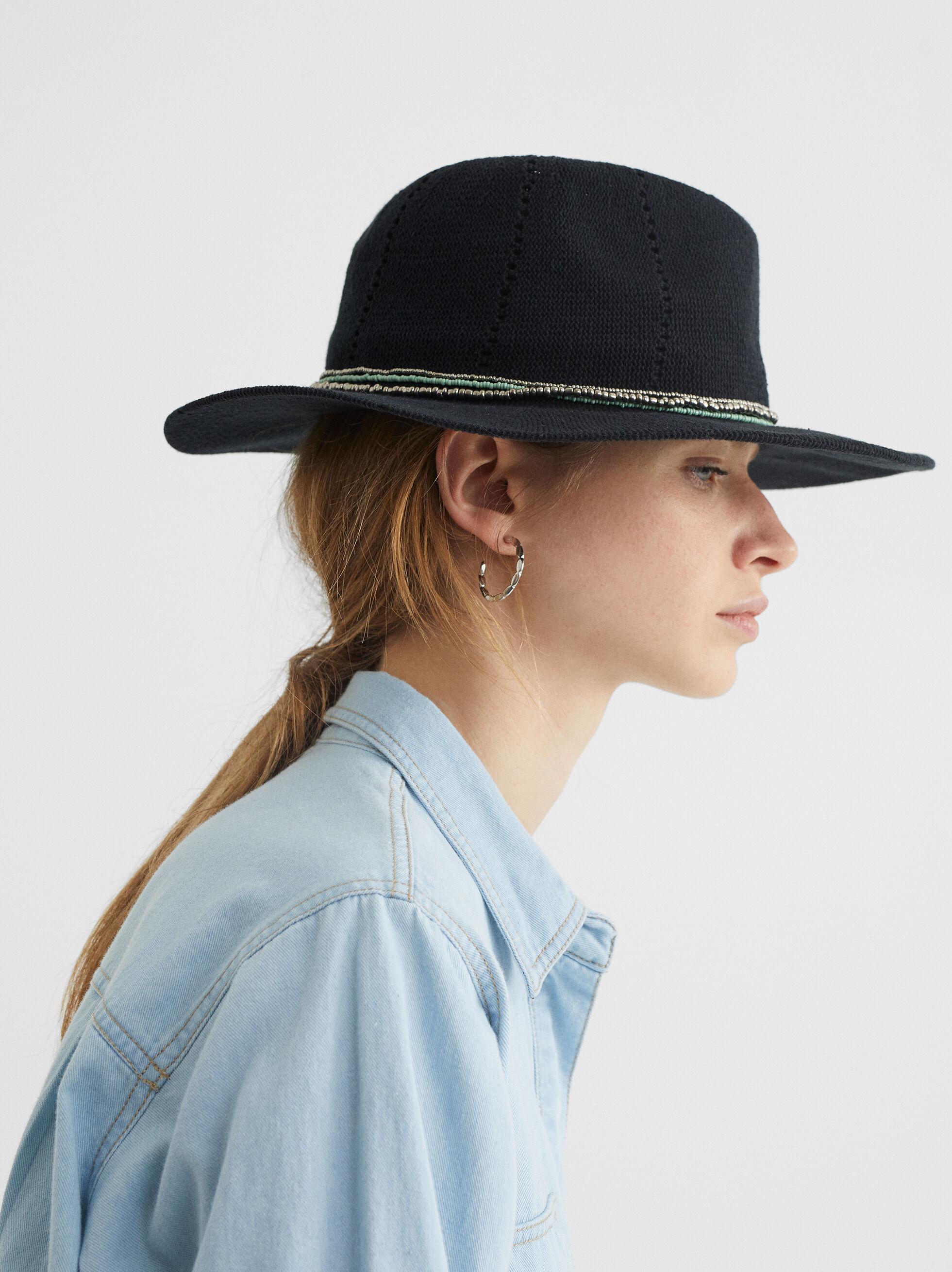 Chapeau En Maille, Noir, hi-res