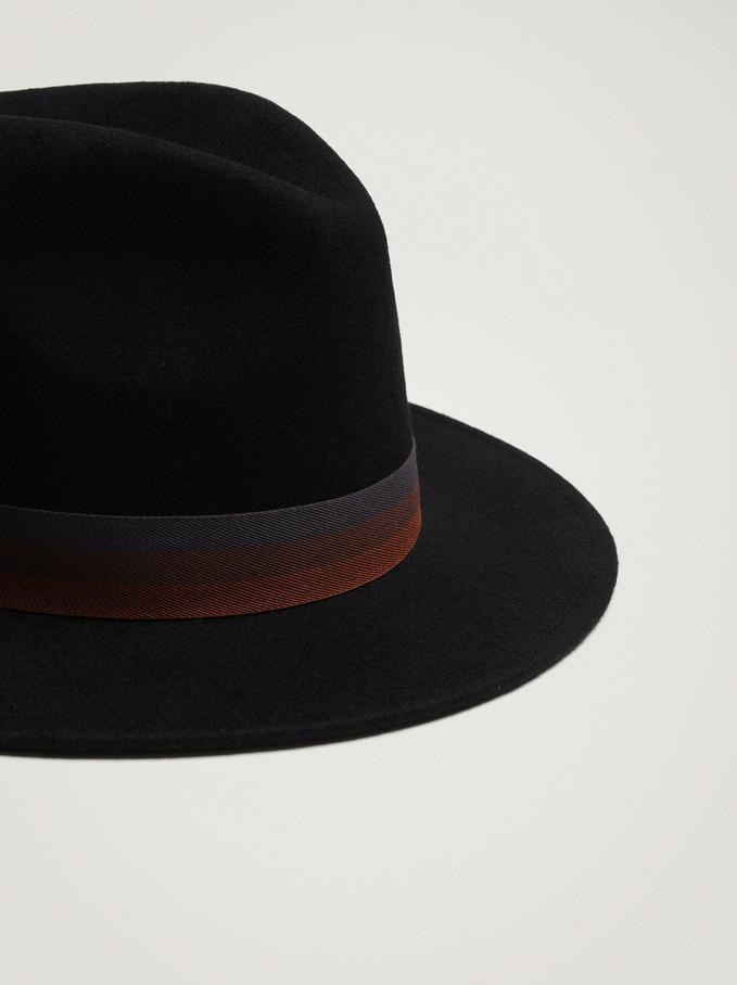 Woollen Hat, Black, hi-res