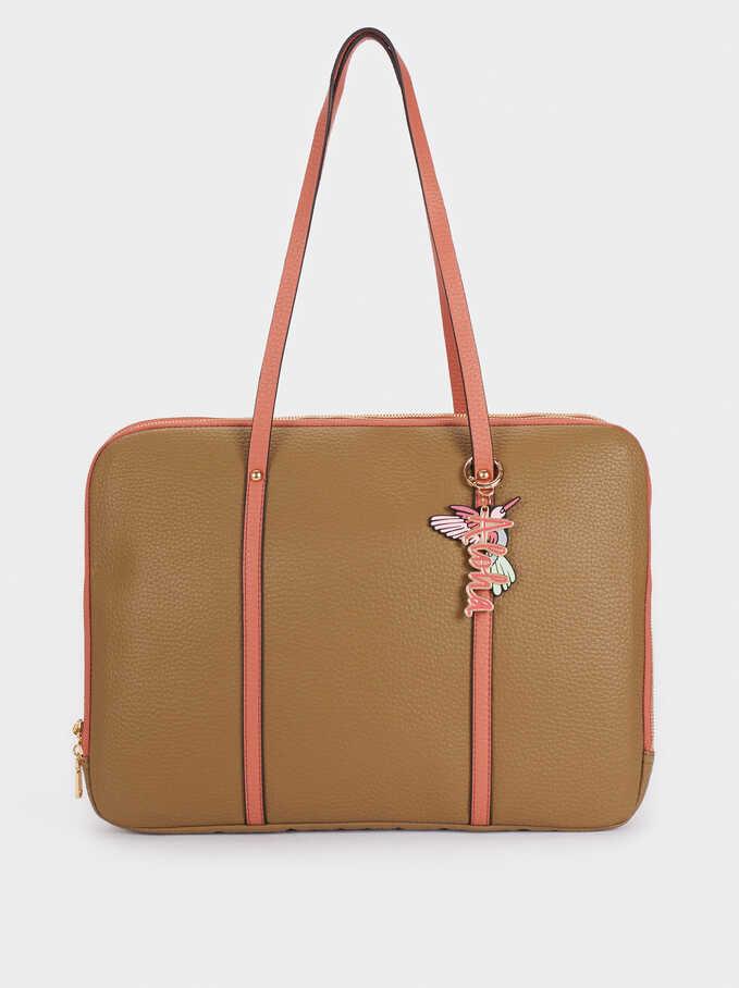 """Briefcase For 15"""" Laptop, Khaki, hi-res"""