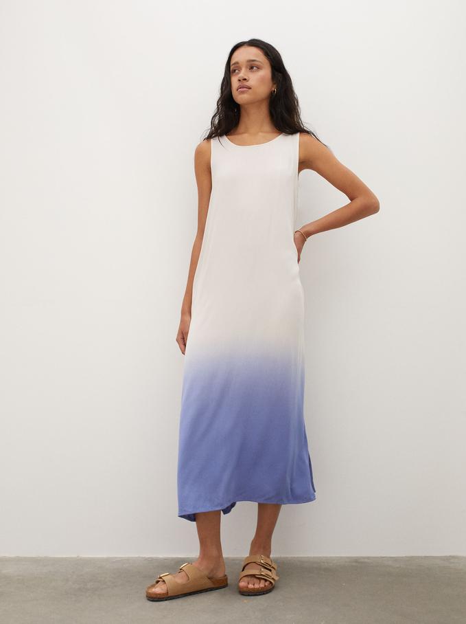 Sukienka Na Ramiaczkach, Niebieski, hi-res