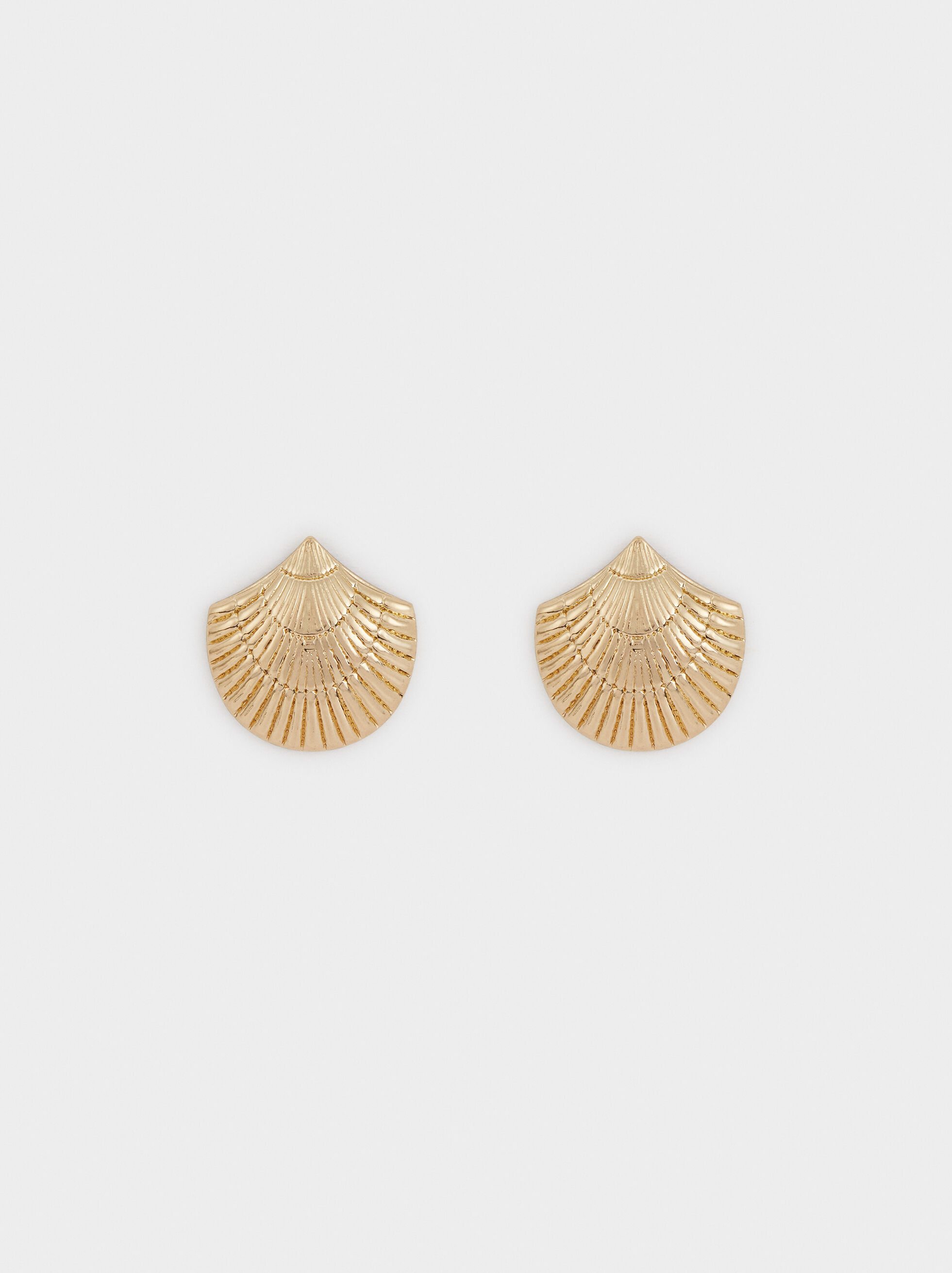 Small Seashell Earrings, Golden, hi-res