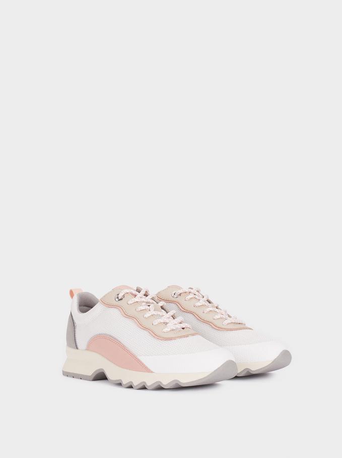 Chaussures De Sport Contrastantes, Multicolore, hi-res
