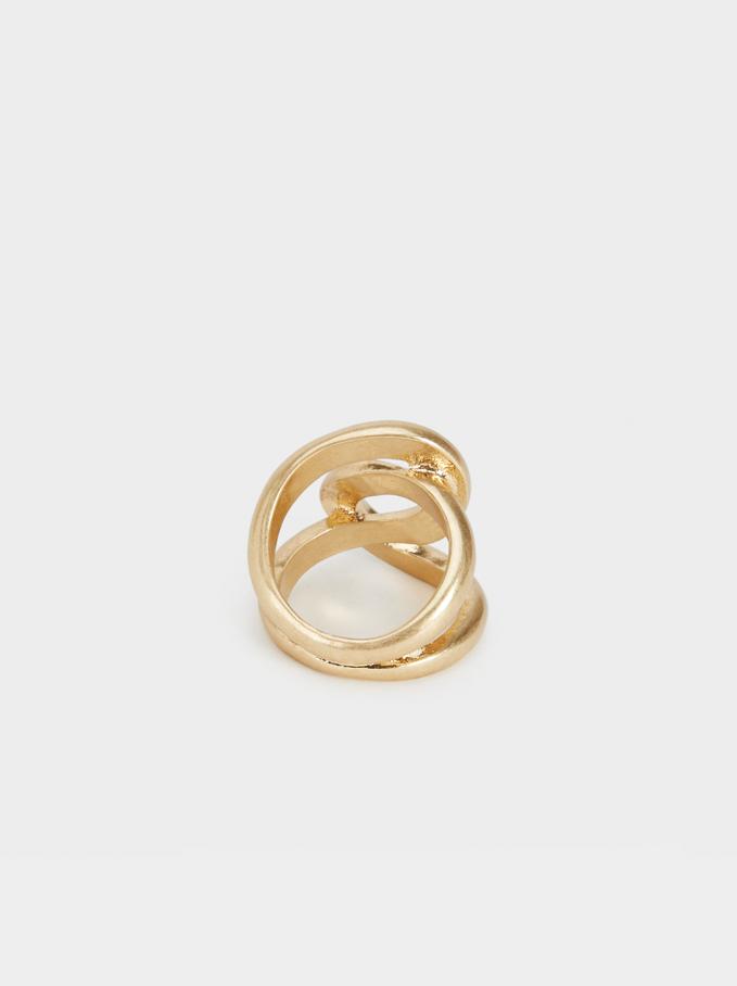 Gold-Toned Metal Ring, Golden, hi-res