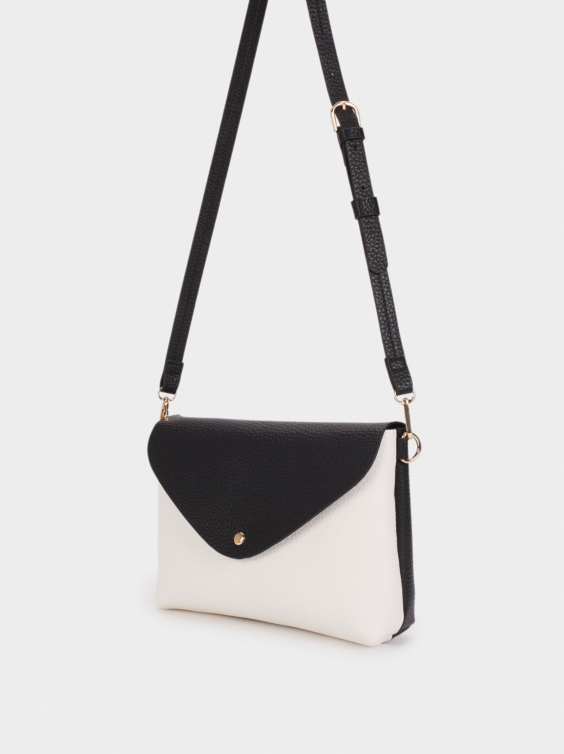 Shoulder Bag With Inner Pocket, Black, hi-res
