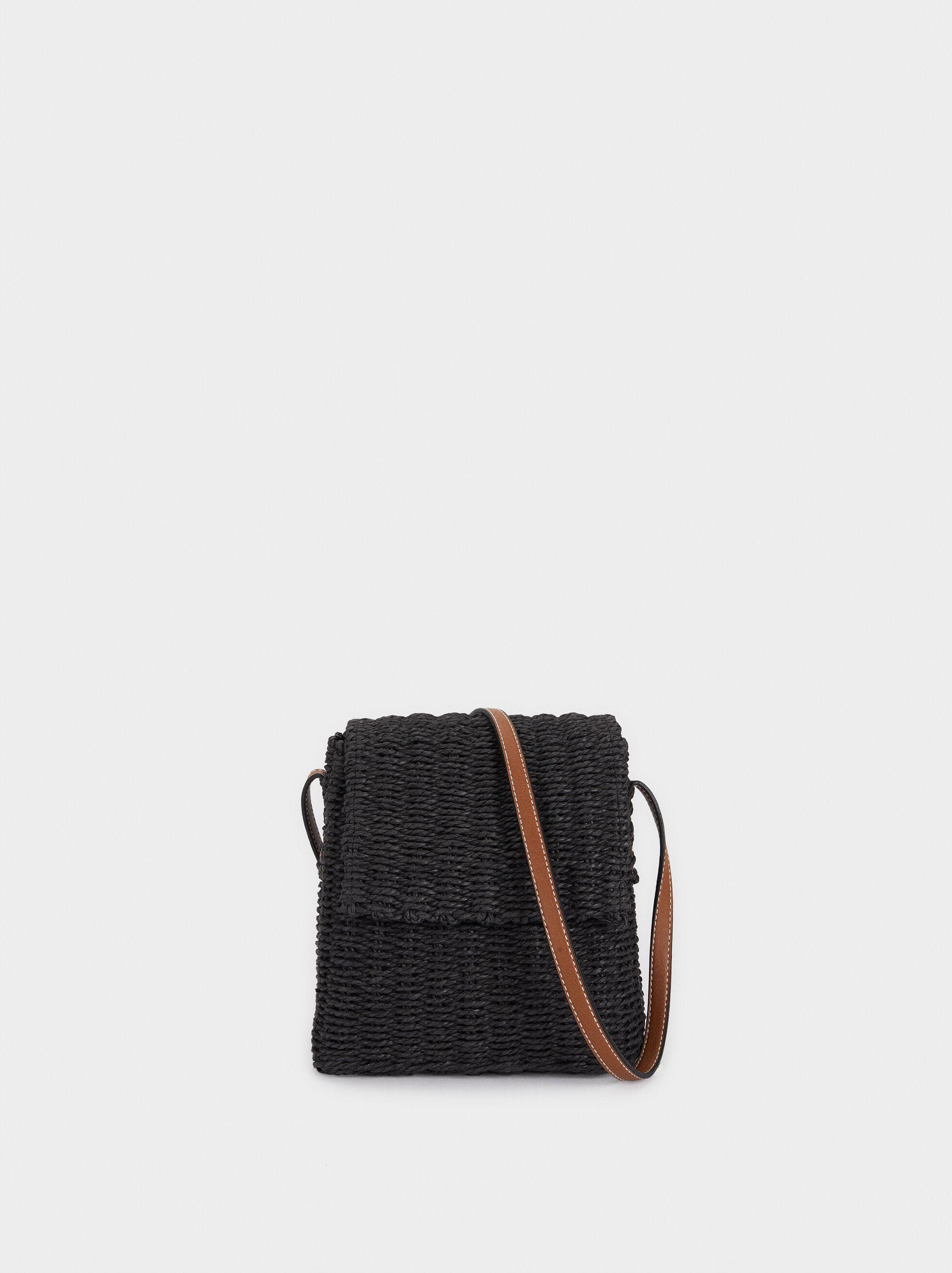 Raffia Shoulder Bag With Adjustable Handle, , hi-res