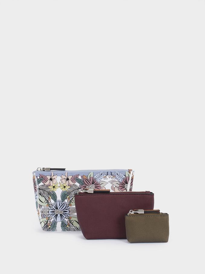 Floral Print Multi-Purpose Bag, Blue, hi-res