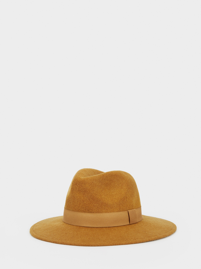 Hat With Matching Band, Mustard, hi-res