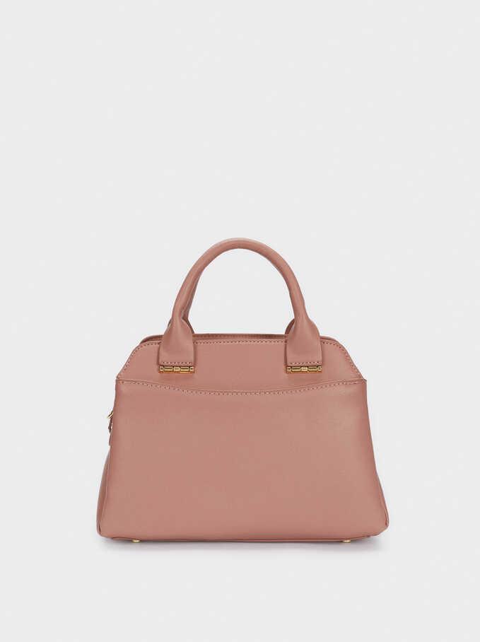 Tote Bag With Removable Shoulder Strap, Pink, hi-res