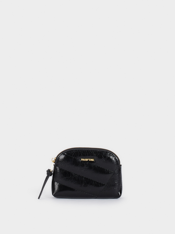 Quilted Purse, Black, hi-res