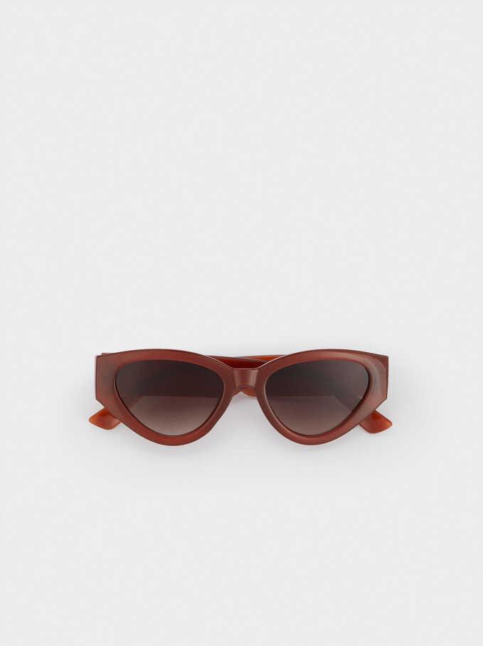 Resin Cat-Eye Sunglasses, Orange, hi-res