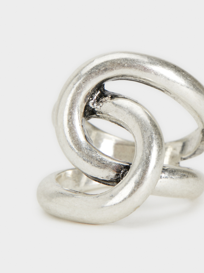 Silver-Plated Metal Ring, Silver, hi-res