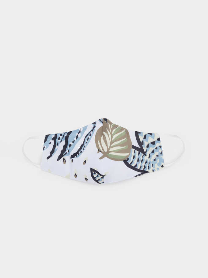 Reusable Printed Mask , White, hi-res