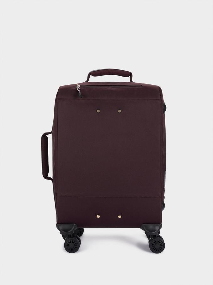 Nylon Suitcase, Bordeaux, hi-res