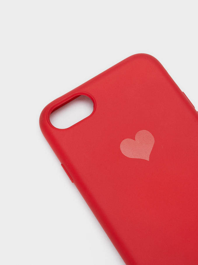 Cover Iphone 6/7/8 Cuore, Rosso, hi-res