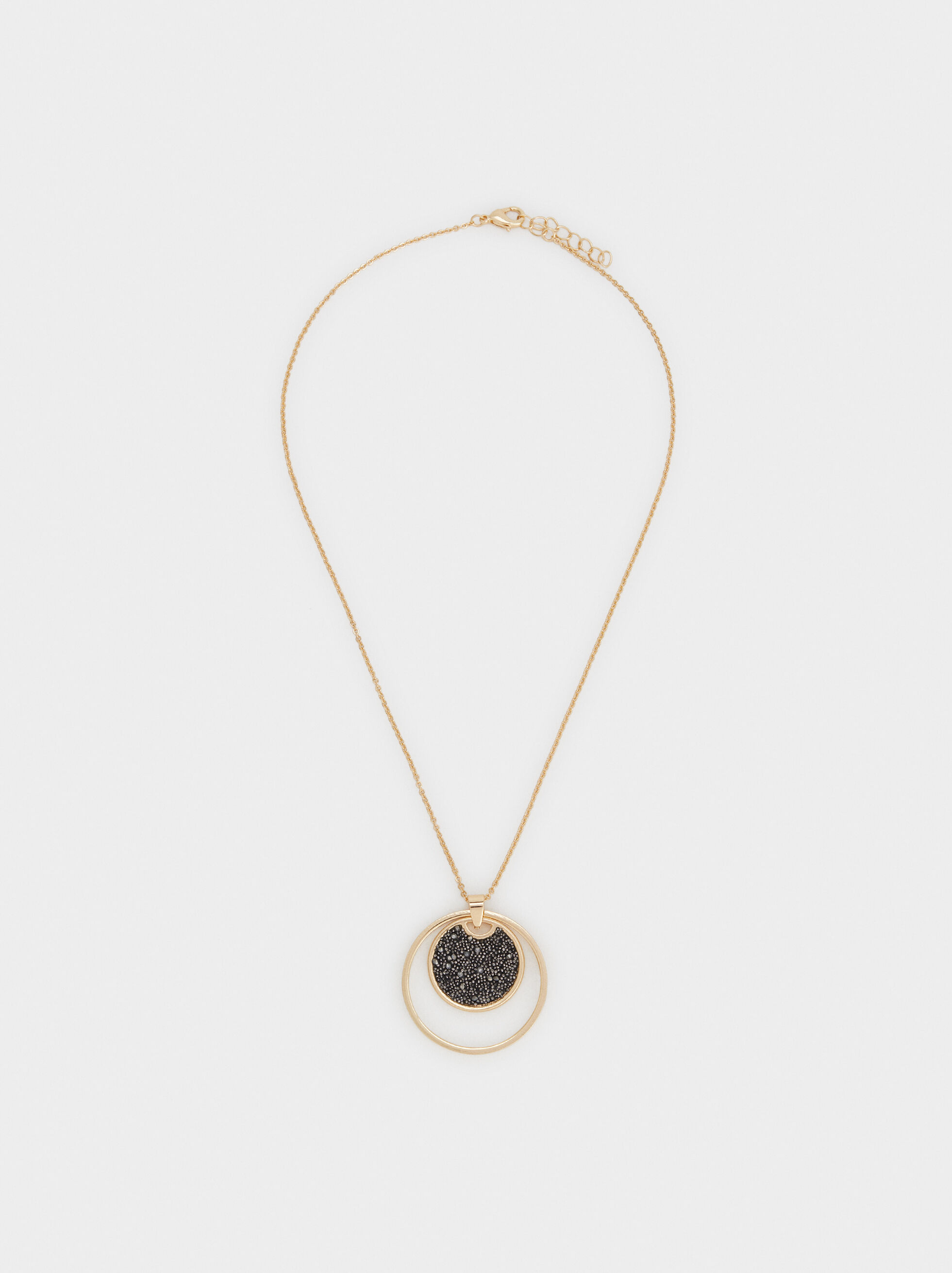 Short Necklace With Pendant, Multicolor, hi-res