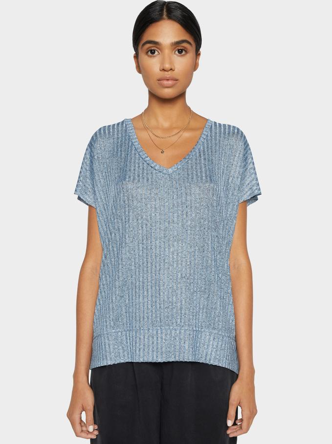 Basic T-Shirt, Blue, hi-res