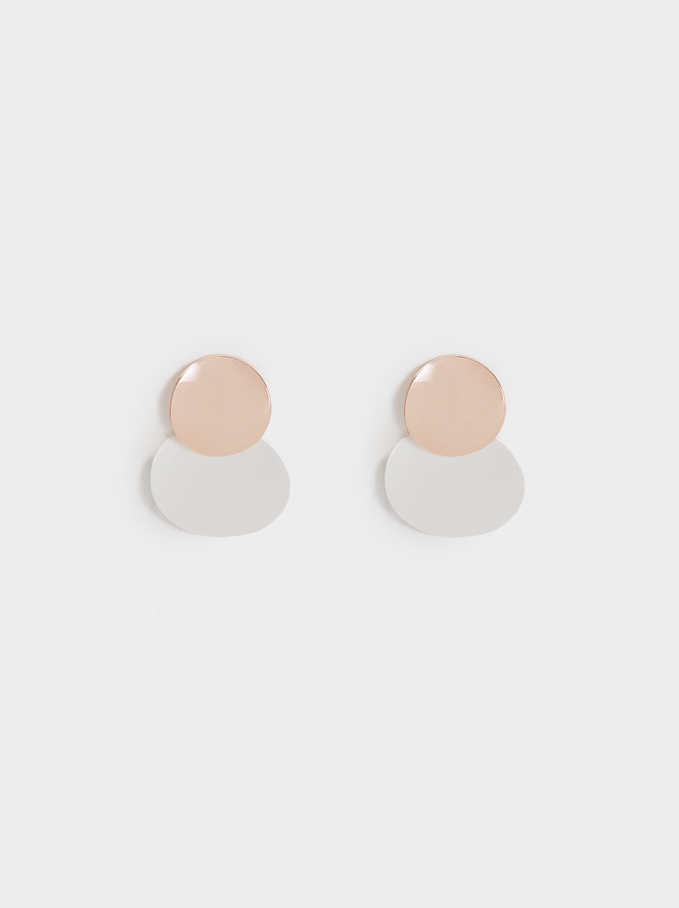 Basic Short Earrings, Multicolor, hi-res