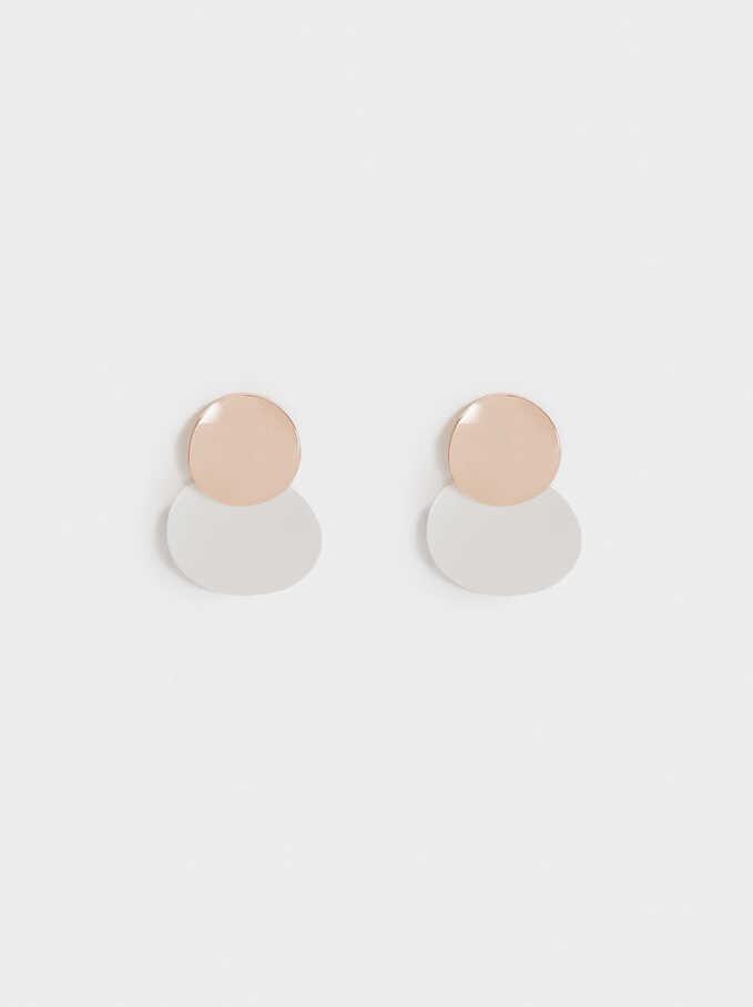 Basic Short Earrings, Multicolor, hi-res