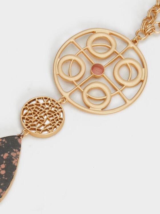 Long Twilight Flower Necklace Online Exclusive, Multicolor, hi-res