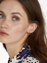 Stainless Steel Short Earrings, , hi-res