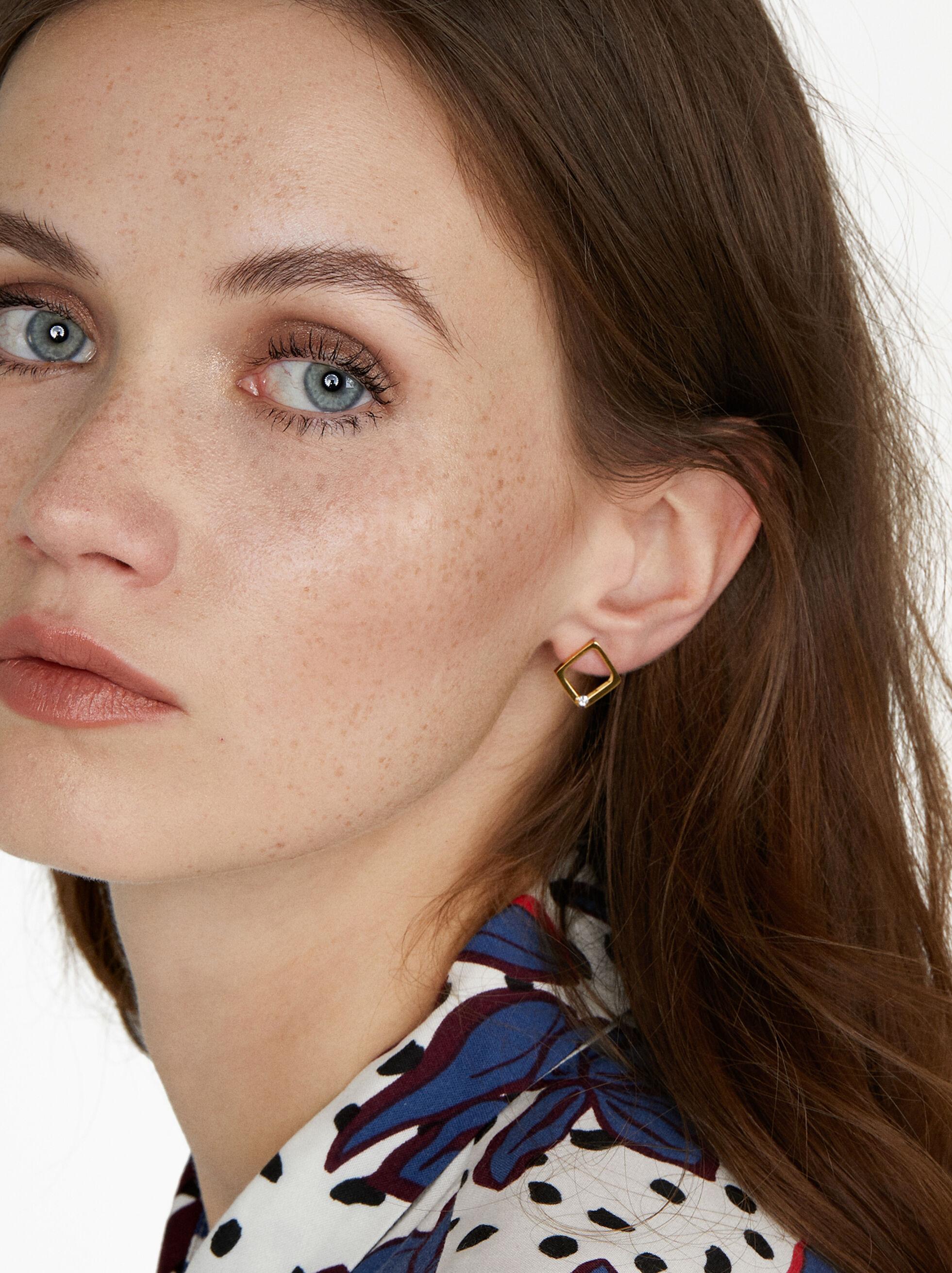 Stainless Steel Short Earrings, , hi-res