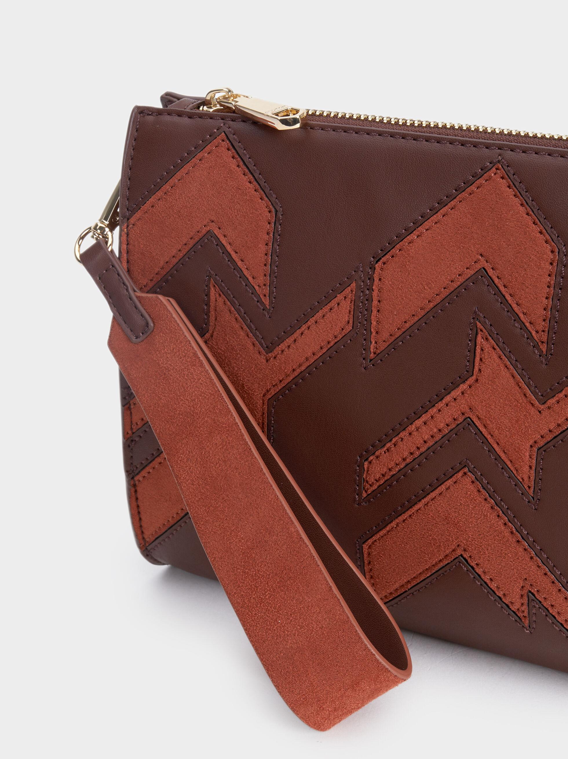 Patchwork Handbag, Brick Red, hi-res
