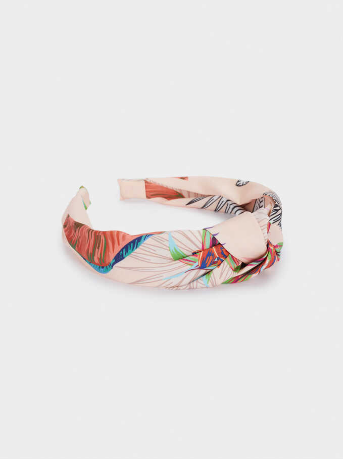 Wide Headband With Knot, Multicolor, hi-res