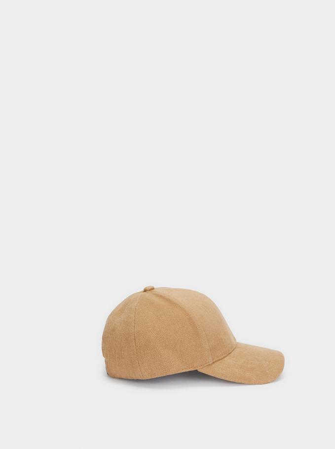 Plain Cap, Beige, hi-res