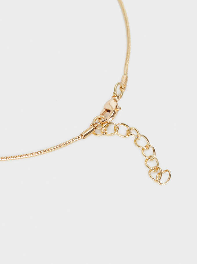 Collar Con Colgante Dorado, Dorado, hi-res
