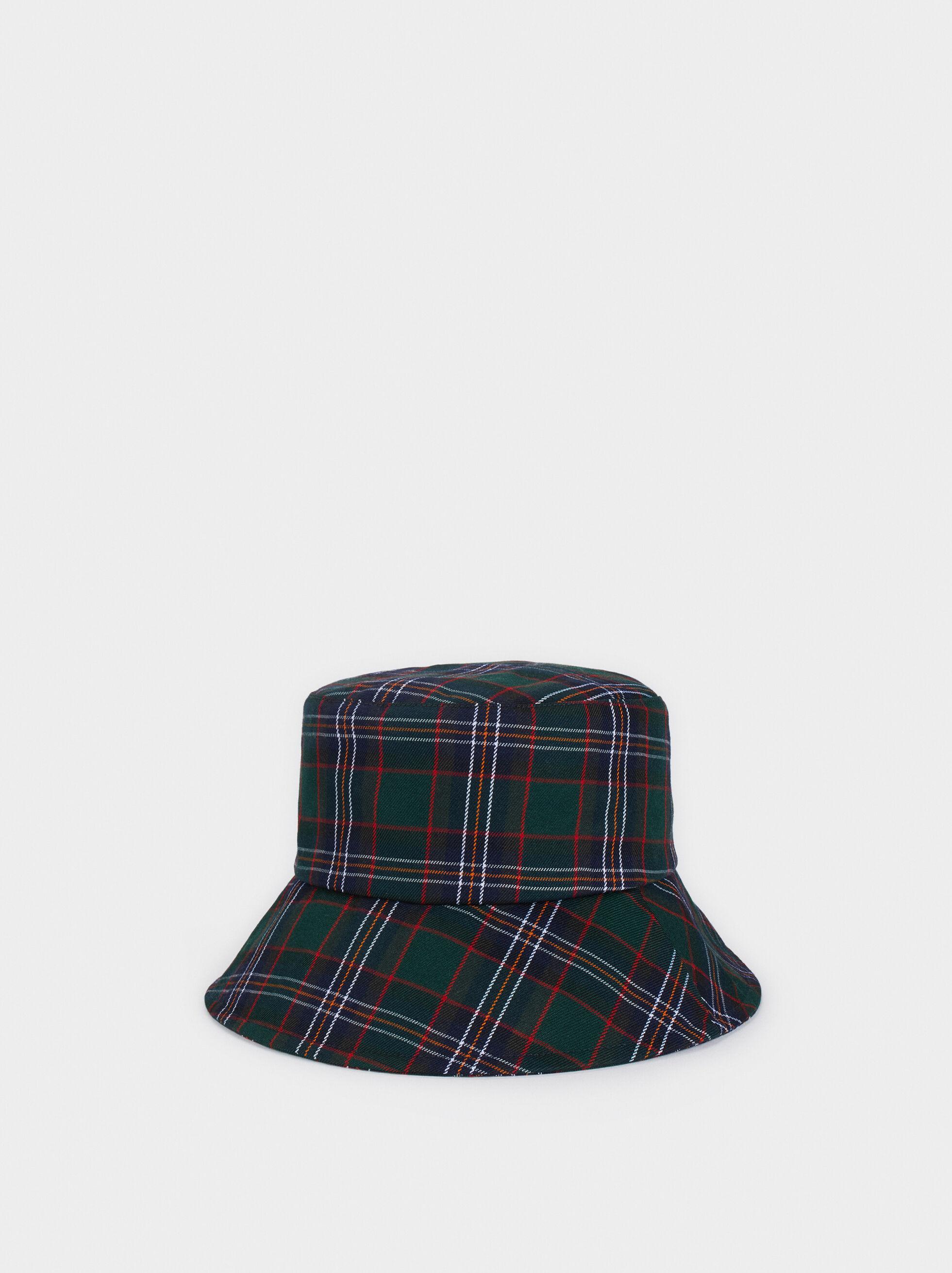 Check Print Hat, Green, hi-res