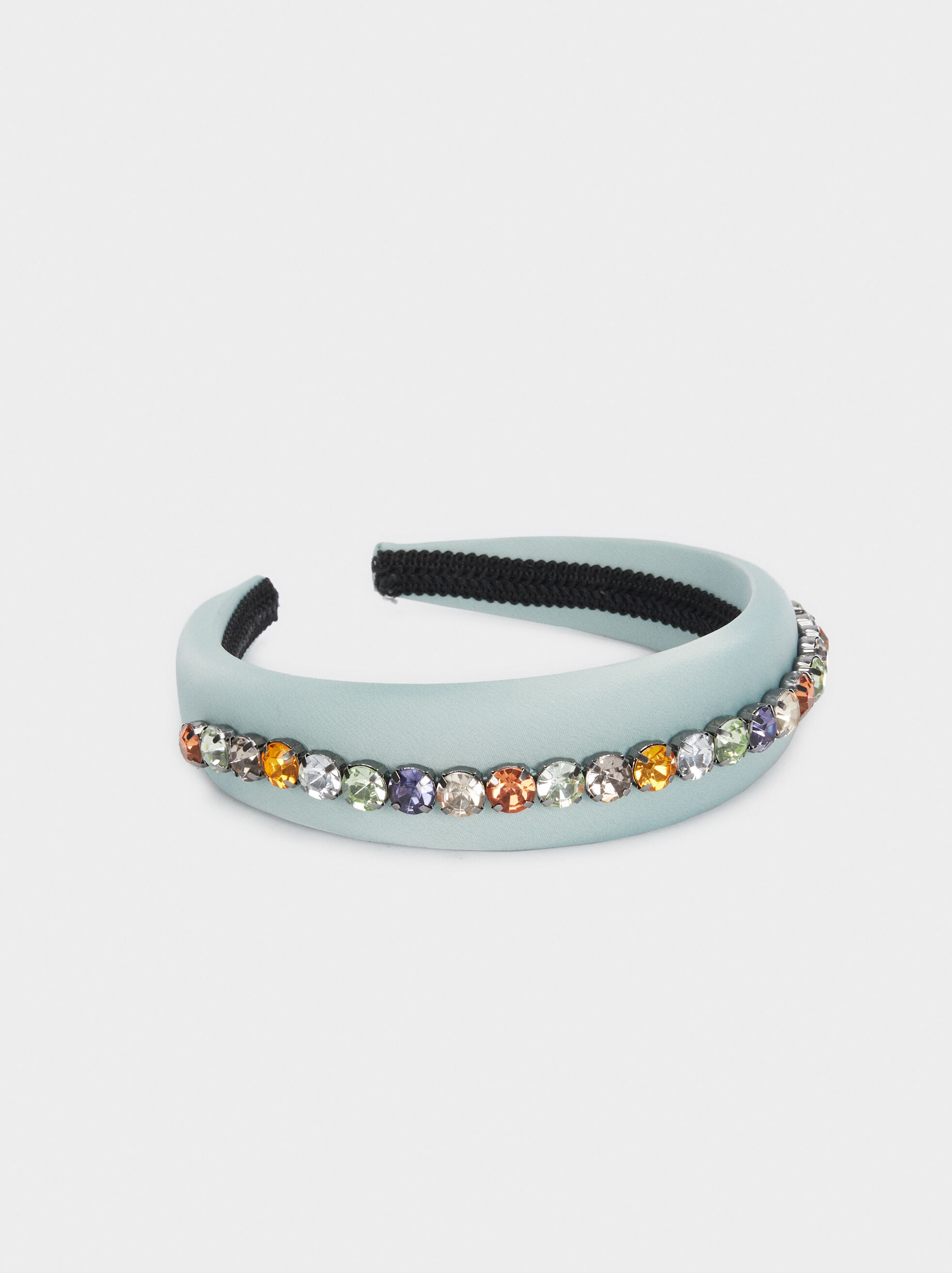 Headband With Multicolour Gems, Green, hi-res