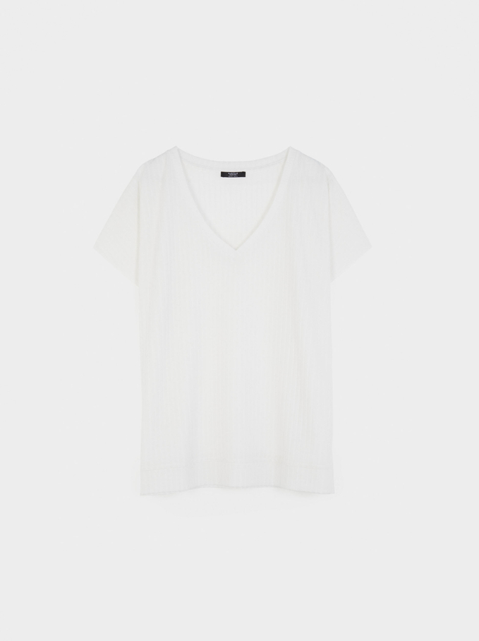 T-Shirt Made From Recycled Materials, White, hi-res