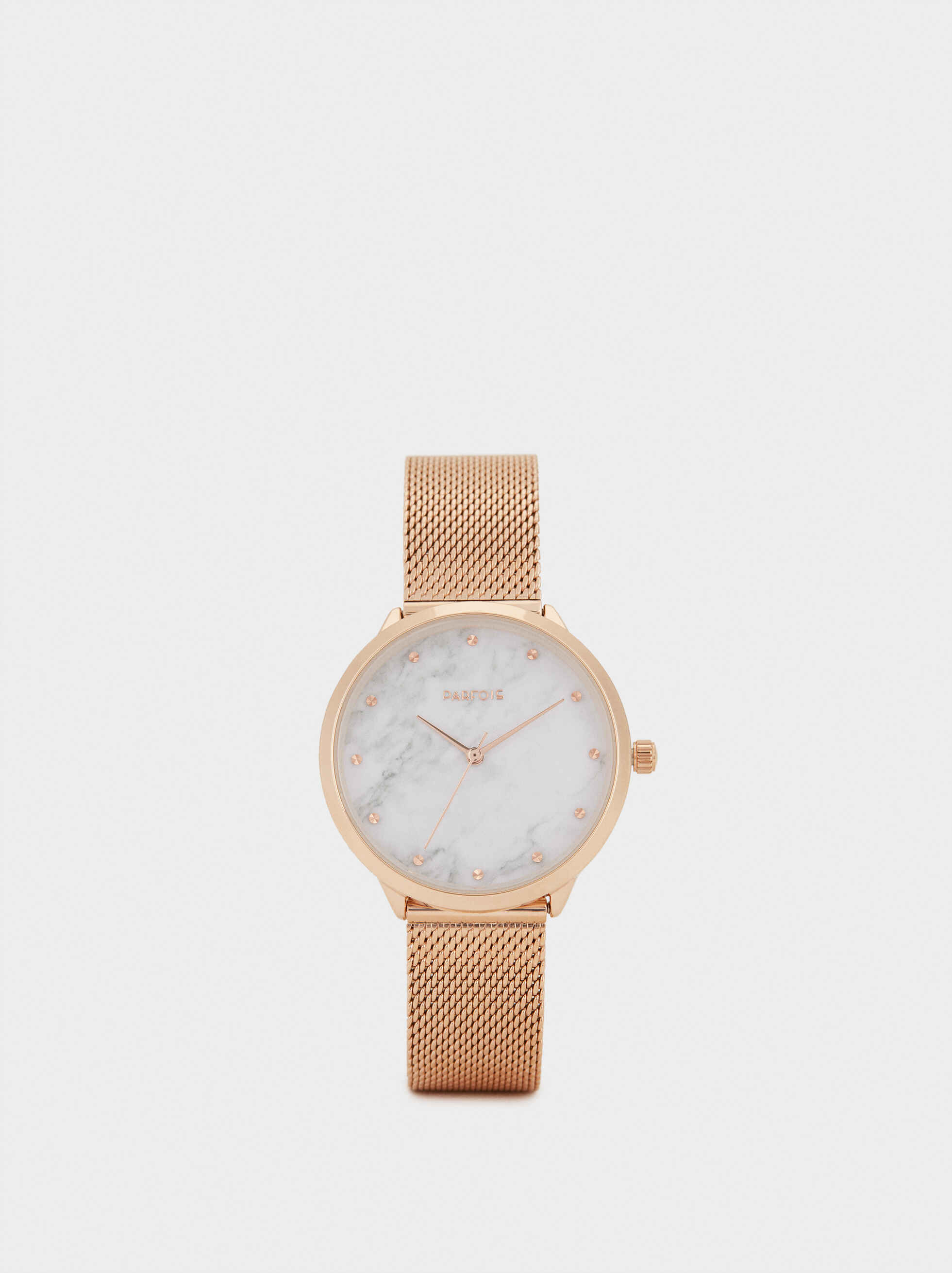 Watch With Marble-Effect Face, , hi-res