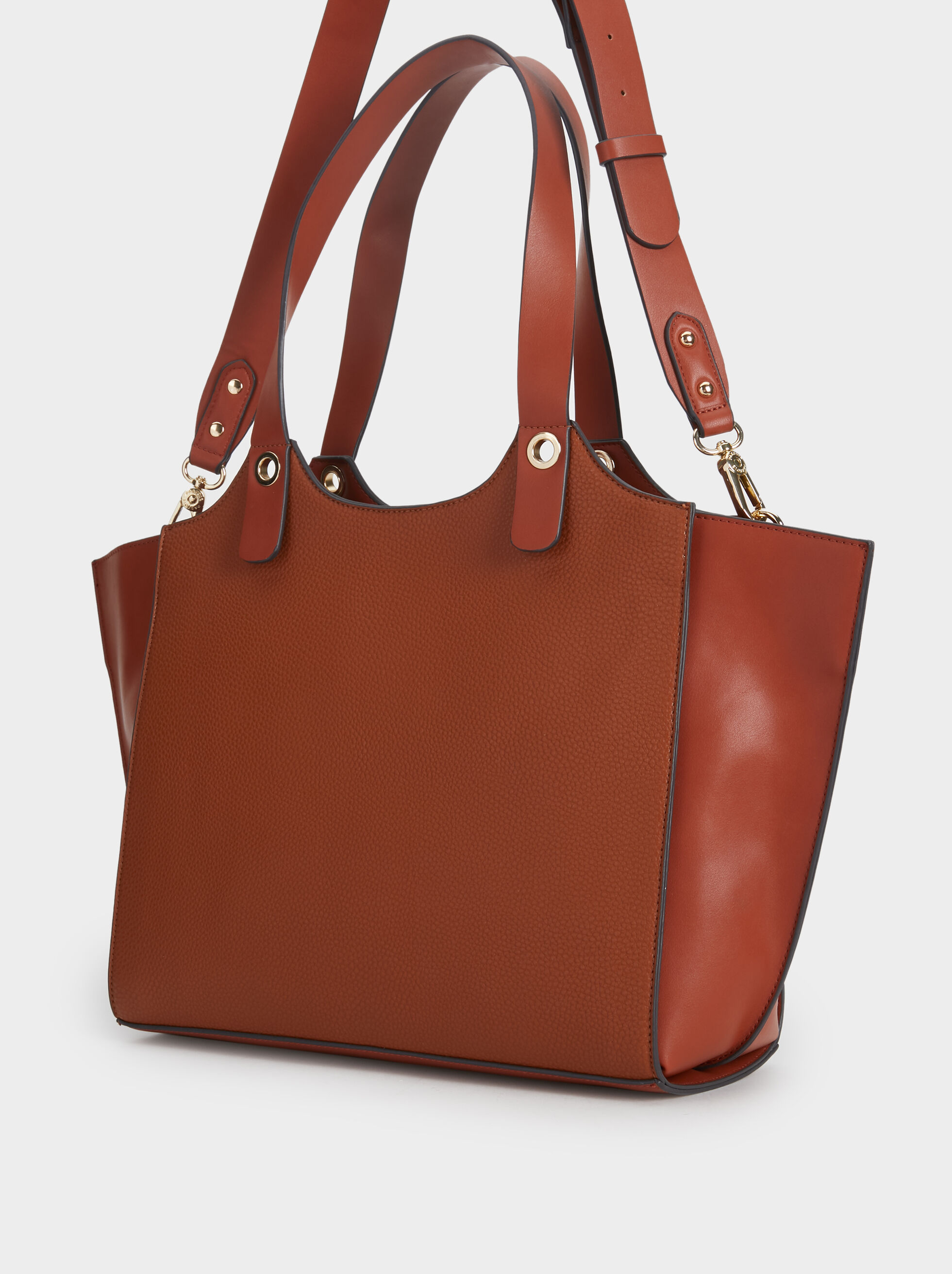 Plain Tote Bag, Camel, hi-res