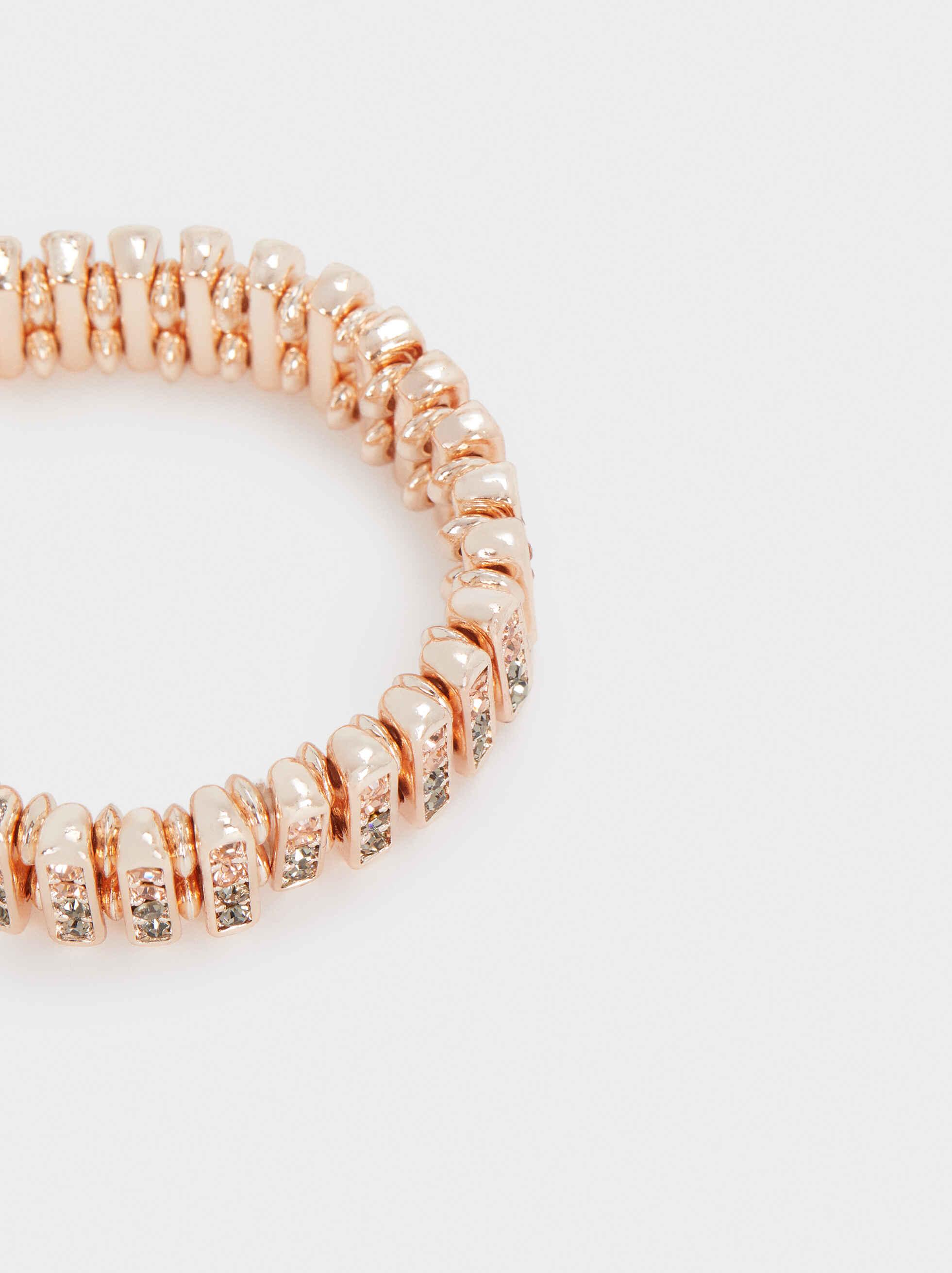 Rose Gold Elastic Bracelet, Orange, hi-res