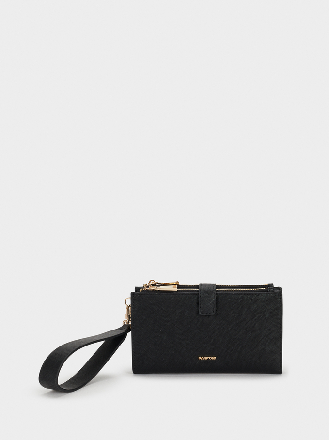 Large Purse With Handle, Black, hi-res