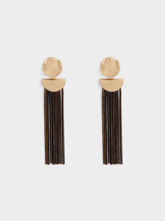 Blog Earrings, Golden, hi-res