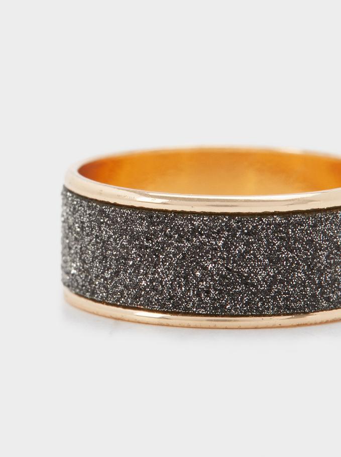 Rrhinestone Ring, Golden, hi-res