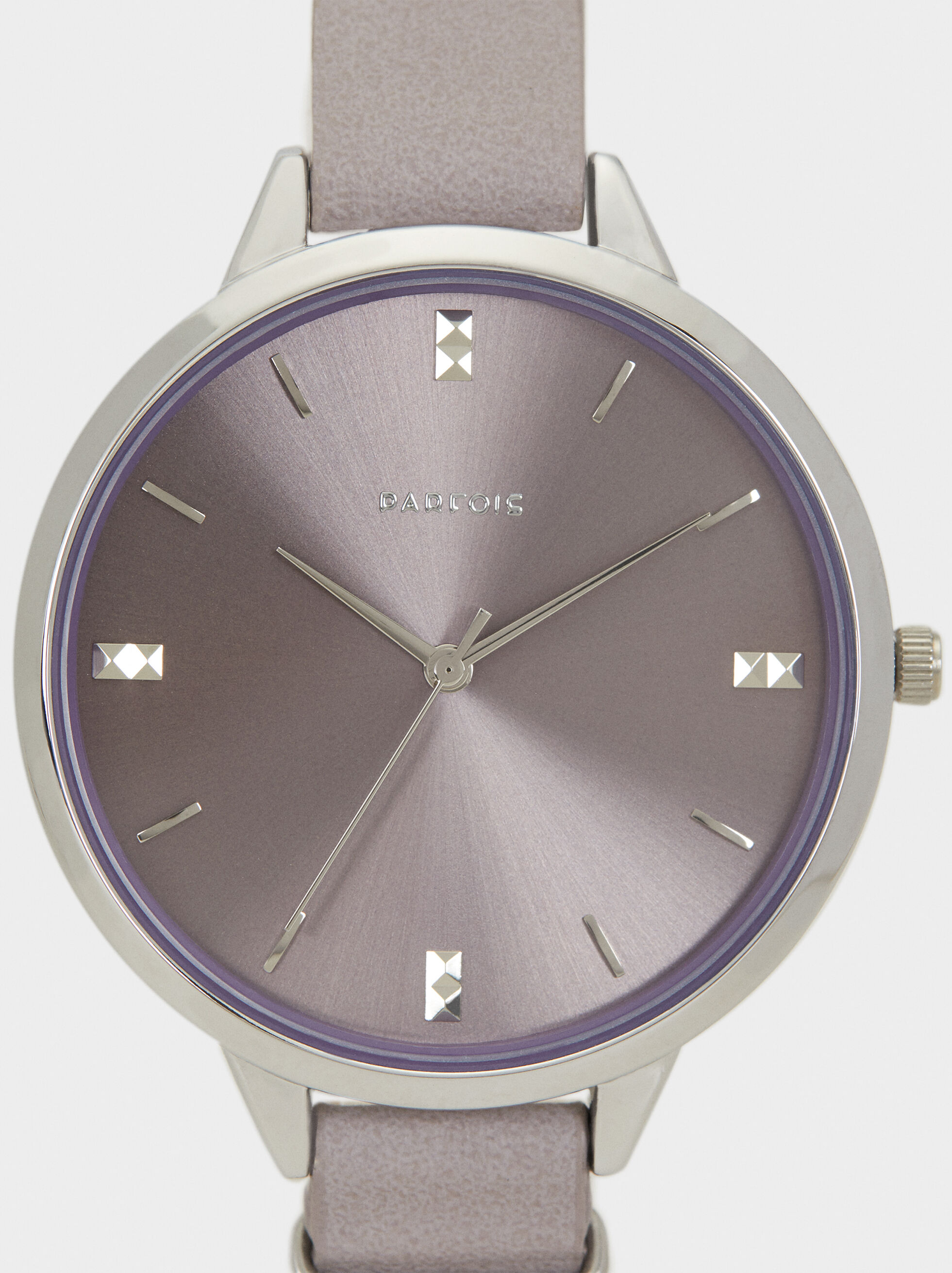 Watch With Metal Detail, Violet, hi-res