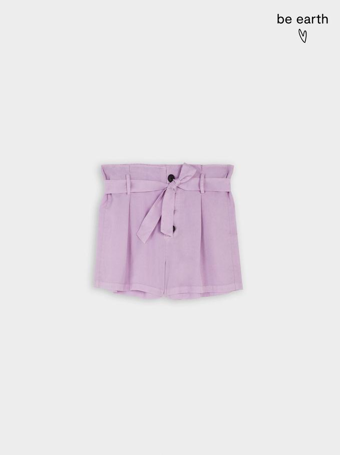 Pantalones Cortos 100% Lyocell, Violeta, hi-res