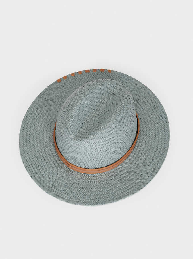 Hat With Contrast Band, Grey, hi-res