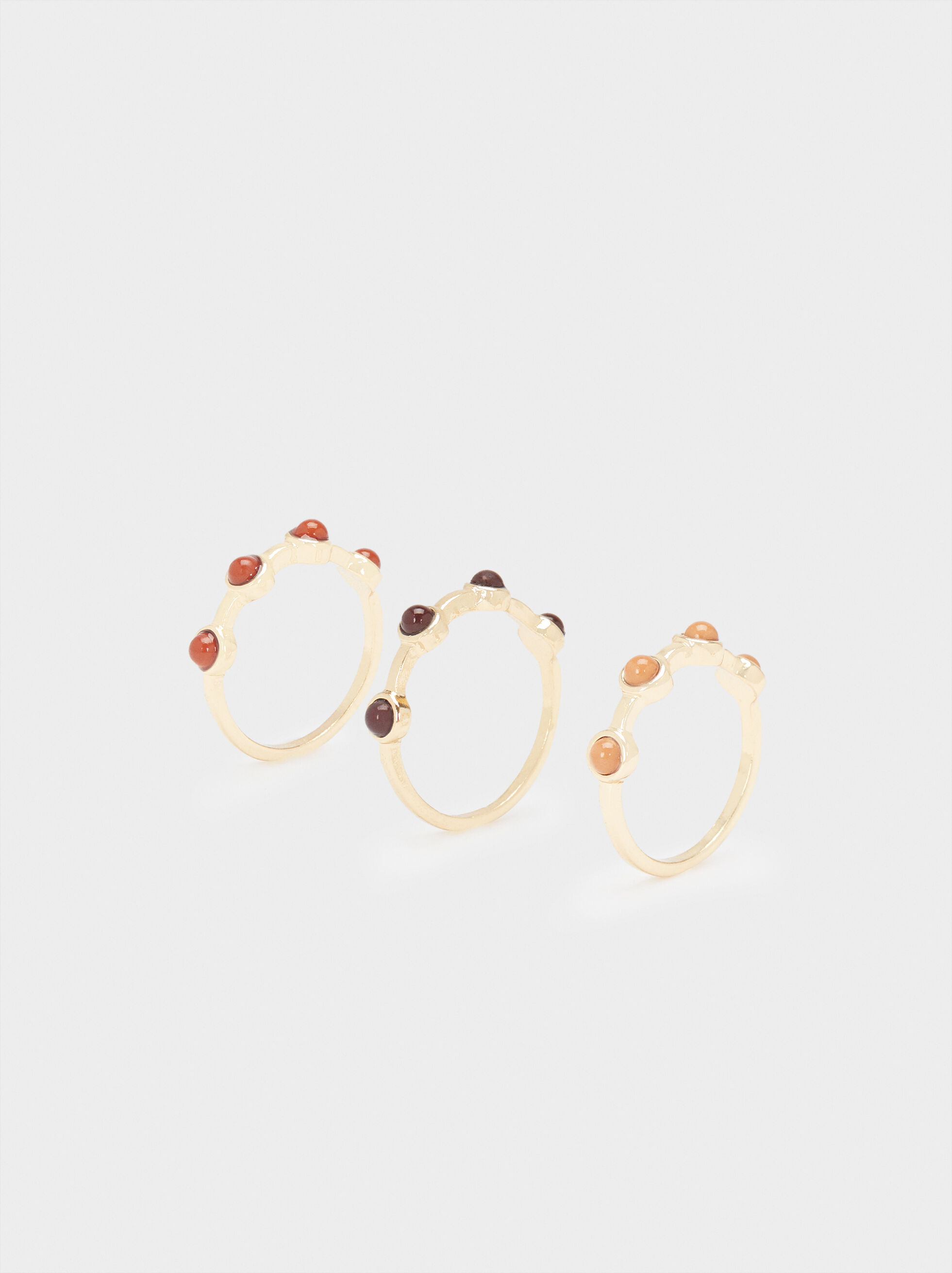 Set Of Stone Rings, , hi-res