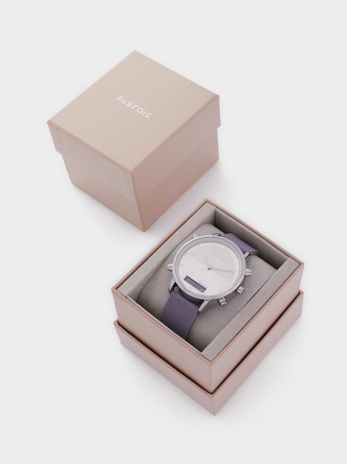 Reloj Digital Correa De Silicona, Violeta, hi-res
