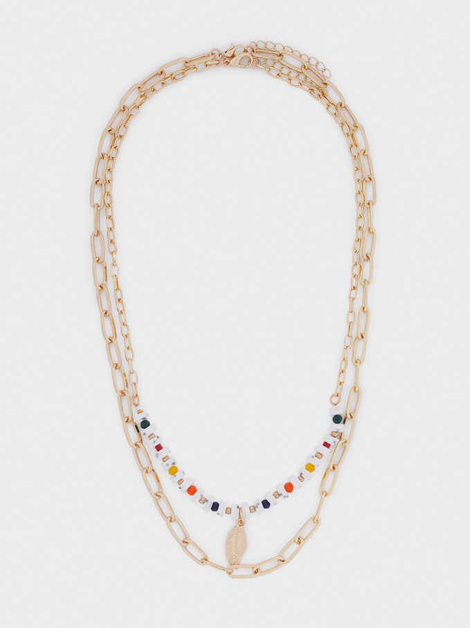Set Of Contrast Necklaces With Crystals, Multicolor, hi-res