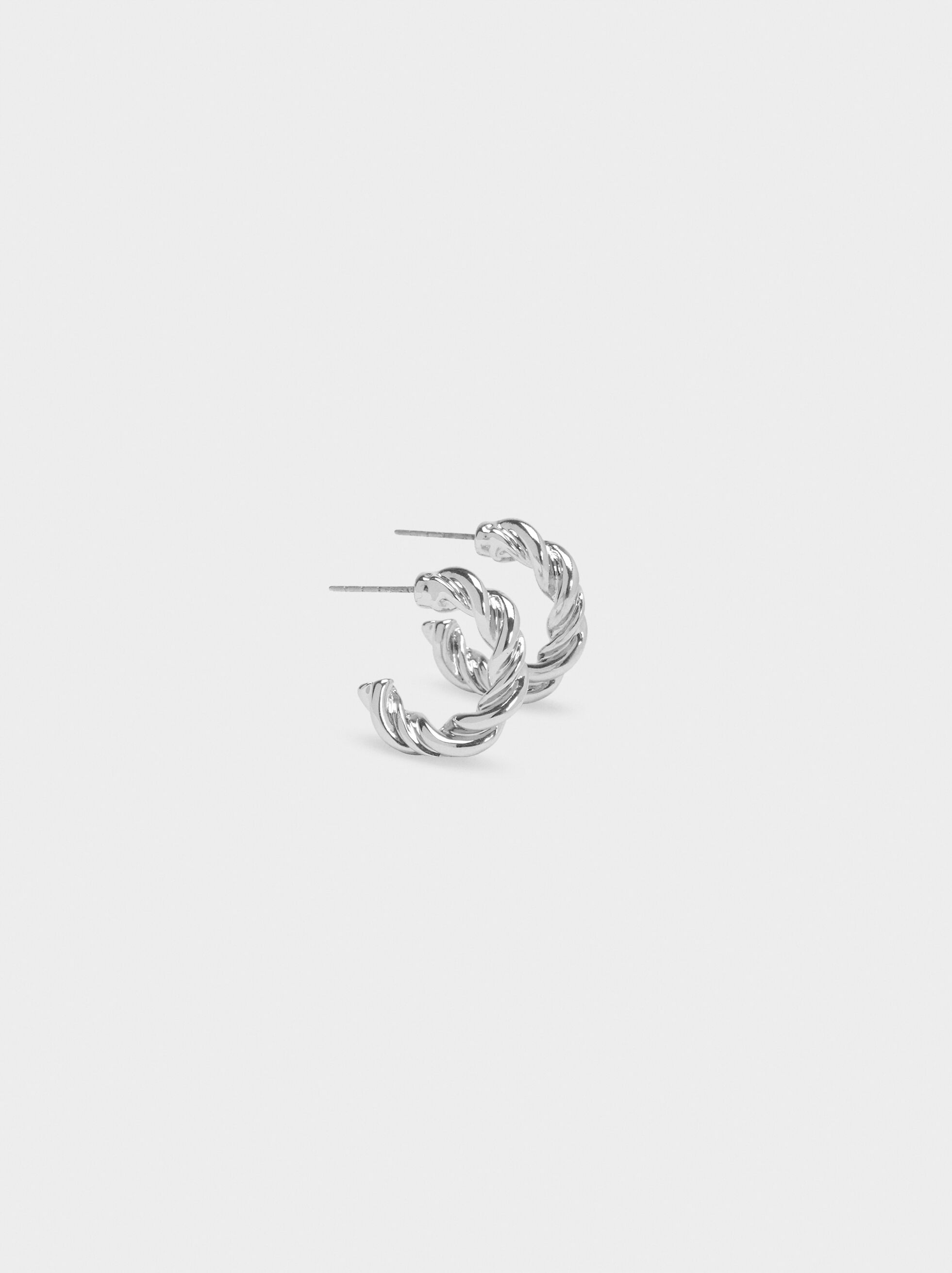 Hoop Fever Small Hoop Earrings , Silver, hi-res