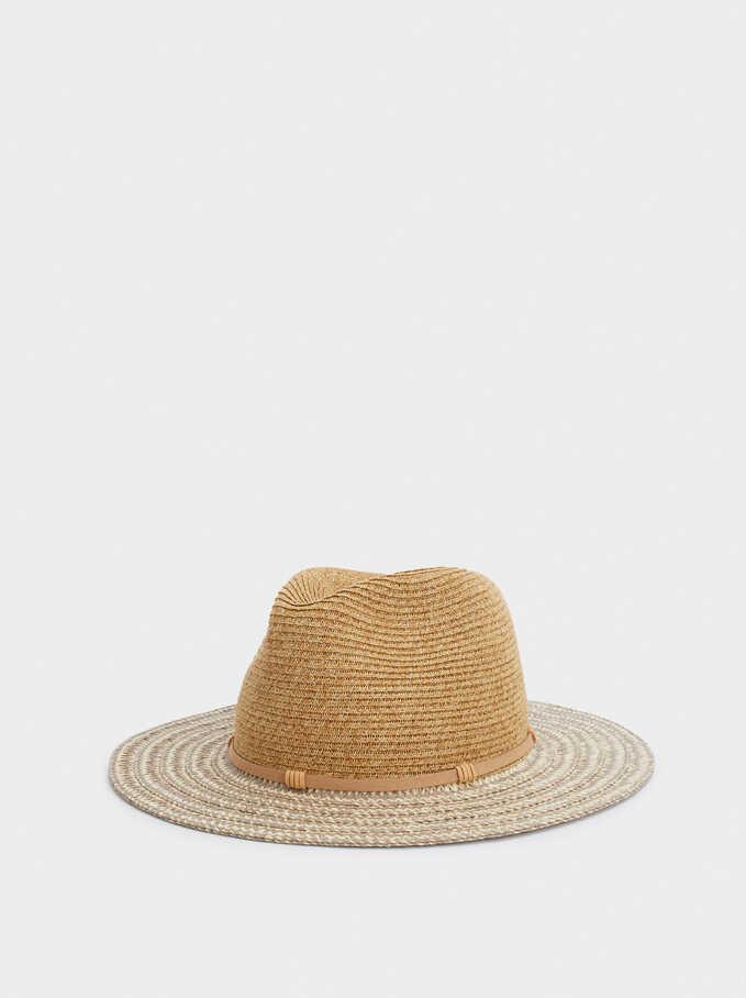 Sombrero Trenzado, Rosa, hi-res