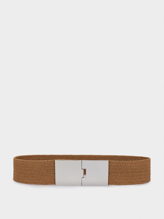 Elastic Belt, Camel, hi-res